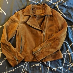 Awesome suede bomber-style jacket by BLANK NYC